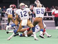 John Hufnagel Winnipeg Blue Bombers quarterback. Copyright photograph Scott Grant