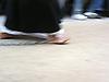 barefooted penitent with chains at his feet in a Holy Week street procession<br /> <br /> penitente descalzado con cadenas en su pies en una procesion de la Semana Santa<br /> <br /> barfuessiger Buesser mit Ketten an den Fuessen in einer Karfreitagsprozession<br /> <br /> 2272 x 1704 px