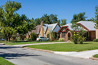 Oklahoma City, Oklahoma, USA.  Crestwood, a Middle Class Neighborhood. Northwest 19th. Street.  These homes were built before World War II.