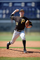 Pittsburgh Pirates pitcher Gage Hinsz (26) delivers a pitch during a minor league Spring Training game against the Philadelphia Phillies on March 24, 2017 at Carpenter Complex in Clearwater, Florida.  (Mike Janes/Four Seam Images)