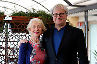 Helen Mirren and film director Simon Curtis <br /> Roma 02-10-2015 Hotel Bernini. Woman in Gold Photocall.<br /> Photo Samantha Zucchi Insidefoto