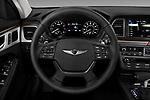 Car pictures of steering wheel view of a 2018 Genesis G80 RWD 4 Door Sedan