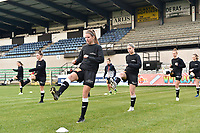players of Eendracht Aalst pictured during the warming up of a female soccer game between Eendracht Aalst and SV Zulte Waregem on the seventh matchday of the 2020 - 2021 season of Belgian Scooore Womens Super League , Saturday 14 th of November 2020  in Aalst , Belgium . PHOTO SPORTPIX.BE | SPP | DIRK VUYLSTEKE