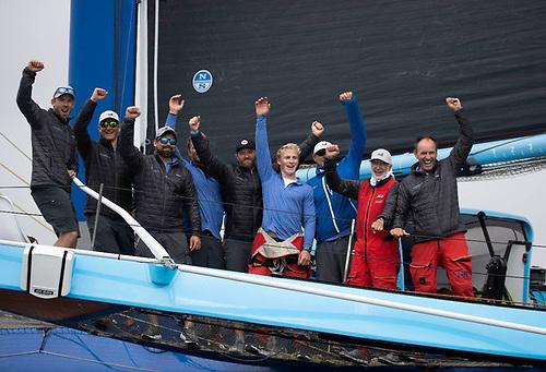 MOD70 PowerPlay crew: Peter Cunningham (Helm), Ned Collier Wakefield (Skipper), Tom Dawson, Miles Seddon, Paul Larsen, Nick Hutton, Frank Gerber, Martin Watts, John Hamilton.