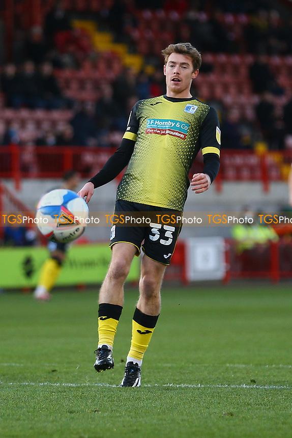 Luke James of Barrow AFC during Crawley Town vs Barrow, Sky Bet EFL League 2 Football at Broadfield Stadium on 12th December 2020