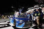 Monster Energy NASCAR Cup Series<br /> Go Bowling 400<br /> Kansas Speedway, Kansas City, KS USA<br /> Saturday 13 May 2017<br /> Martin Truex Jr, Furniture Row Racing, Auto-Owners Insurance Toyota Camry celebration<br /> World Copyright: Barry Cantrell<br /> LAT Images<br /> ref: Digital Image 17KAN1bc4829