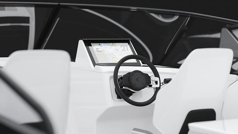 Candela C8 cockpit