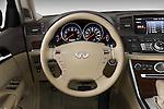 Steering wheel view of a 2008 Infiniti M35
