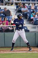 Eugene Emeralds' Duanel Jones #38 at bat against the Everett AquaSox at Everett Memorial Stadium in Everett, Washington, on August 23, 2011.  (Ronnie Allen/Four Seam Images)
