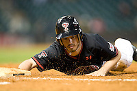 Texas Tech Red Raider shortstop Joey Kenworthy against Rice on Saturday March 6th, 2100 at the Astros College Classic in Houston's Minute Maid Park.  (Photo by Andrew Woolley / Four Seam Images)