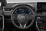 Car pictures of steering wheel view of a 2021 Toyota RAV4-Hybride-Rechargeable Premium-Plus 5 Door SUV Steering Wheel
