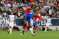 Harrison, NJ - Friday Sept. 01, 2017: Kendall Waston during a 2017 FIFA World Cup Qualifier between the United States (USA) and Costa Rica (CRC) at Red Bull Arena.
