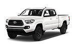 2020 Toyota Tacoma SR5 4 Door Pick Up angular front stock photos of front three quarter view
