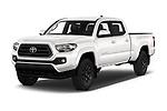 2020 Toyota Tacoma SR5 4 Door Pick Up angular front stock photos of front three quarter view