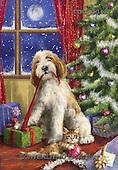 Marcello, CHRISTMAS ANIMALS, WEIHNACHTEN TIERE, NAVIDAD ANIMALES, paintings+++++,ITMCXM1632,#XA# ,dogs,puppies