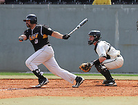 Infielder Daniel Kassouf (8) of the Appalachian State Mountaineers in a game against the Wofford College Terriers on April 28, 2012, at Russell C. King Field in Spartanburg, South Carolina. (Tom Priddy/Four Seam Images)