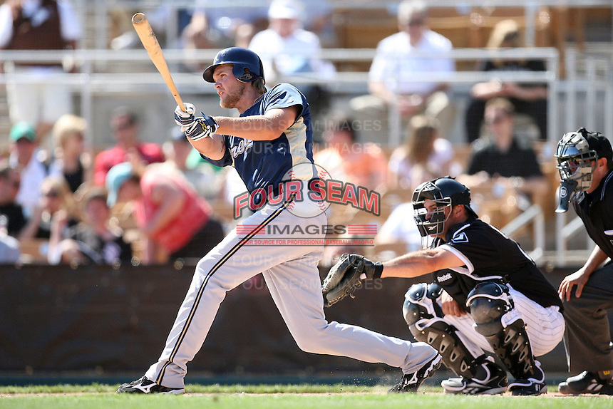 March 11,2009: Corey Hart (1) of the Milwaukee Brewers at Camelback Ranch in Glendale, AZ.  Photo by: Chris Proctor/Four Seam Images