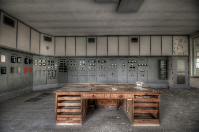 An abandoned water pump station in East Germany