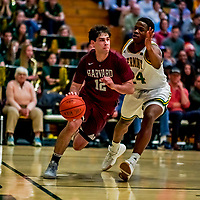 8 December 2018: Harvard University Crimson Guard Spencer Freedman, a Freshman from Pacific Palisades, CA, in action against the University of Vermont Catamounts in Men's Basketball at Patrick Gymnasium in Burlington, Vermont. The America East Catamounts overcame a 10-point 2nd half deficit, to defeat the Ivy League Crimson 71-65 in NCAA Division I inter-league play. Mandatory Credit: Ed Wolfstein Photo *** RAW (NEF) Image File Available ***