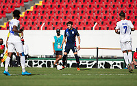 GUADALAJARA, MEXICO - MARCH 28: Sam Vines #13 of the United States looks for an open man downfield during a game between Honduras and USMNT U-23 at Estadio Jalisco on March 28, 2021 in Guadalajara, Mexico.