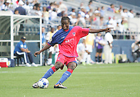 Judelin Aveska kicks the ball. Honduras defeated Haiti 1-0 during the First Round of the 2009 CONCACAF Gold Cup at Qwest Field in Seattle, Washington on July 4, 2009.
