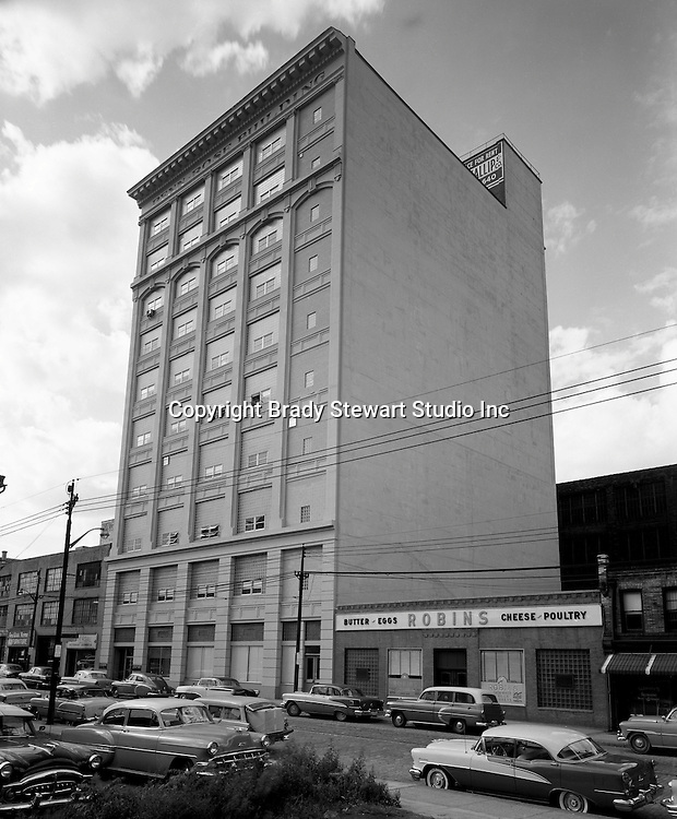 Pittsburgh PA:  View of the Penn Rose Building in the Strip District of Pittsburgh. The building was located in the Strip District of Pittsburgh