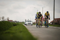 the breakaway group<br /> <br /> 74th Nokere Koerse 2019 <br /> One day race from Deinze to Nokere / BEL (196km)<br /> <br /> ©kramon