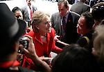 Hillary Clinton greets supporters after speaking at the George R Brown Convention Center to the Greater Houston Partnership. Democratic presidential candidate Hillary Rodham Clinton addresses the Greater Houston Partnership energy summit at the George R. Brown Convention Center.   (Thursday, Feb. 28, 2008, in Splendora. ( Steve Campbell / Houston Chronicle)