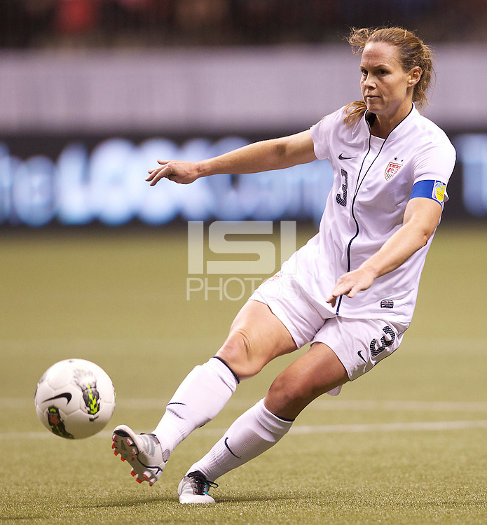 VANCOUVER, CANADA - Tuesday, January 22, 2012: The United State defeats Mexico 4-0 in the CONCACAF Women's Olympic Qualifying tournament.