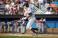 Mahoning Valley Scrappers first baseman Nathan Winfrey (17) at bat during a game against the Batavia Muckdogs on July 3, 2015 at Dwyer Stadium in Batavia, New York.  Batavia defeated Mahoning Valley 7-4.  (Mike Janes/Four Seam Images)