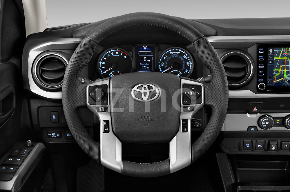Car pictures of steering wheel view of a 2020 Toyota Tacoma SR5 4 Door Pick Up