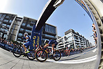 Race leader Elia Viviani (ITA) Quick-Step Floors wins Stage 5 The Meraas Stage final stage of the Dubai Tour 2018 the Dubai Tour's 5th edition, running 132km from Skydive Dubai to City Walk, Dubai, United Arab Emirates. 10th February 2018.<br /> Picture: LaPresse/Massimo Paolone | Cyclefile<br /> <br /> <br /> All photos usage must carry mandatory copyright credit (© Cyclefile | LaPresse/Massimo Paolone)