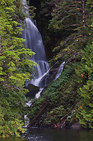 Waterfall along the Inside Passage of the Great Bear Rainforest in British Columbia, Canada