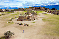 Monte Alban. Once the hub of the ancient civilization of the Zapotecas. Oaxaca, Mexico, North America