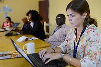 CHAD, N´Djamena, NGO JRS office, meeting / TSCHAD, Ndjamena, JRS Buero, Maria Salsamendi Urra