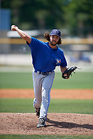 Toronto Blue Jays pitcher Tom Robson (53) delivers a pitch during a minor league Spring Training game against the New York Yankees on March 30, 2017 at the Englebert Complex in Dunedin, Florida.  (Mike Janes/Four Seam Images)