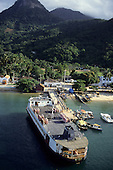 Ilha Grande, Brazil. Ferry boat moored at the pier at the town of Abraao.