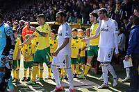 Pictured: Team players enter the stadium.<br /> Saturday 06 April 2013<br /> Re: Barclay's Premier League, Norwich City FC v Swansea City FC at the Carrow Road Stadium, Norwich, England.