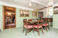 BNPS.co.uk (01202) 558833. <br /> Pic: TimHardy/KnightFrank/BNPS<br /> <br /> Pictured: Dining room. <br /> <br /> A traditional country cottage in a hidden valley surrounded by its own woodland is on the market for offers over £700,000.<br /> <br /> Beck Cottage sits in a stunning position with a stream that has fishing rights and an idyllic private natural pool with a waterfall.<br /> <br /> Estate agent Knight Frank say it is a rare opportunity for someone to get their own bit of unspoilt England as the cottage is on the market for the first time in about 70 years.<br /> <br /> The five-bedroom property is close to the seaside town of Whitby and the North York Moors National Park.
