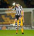 MOTHERWELL'S SHAUN HUTCHINSON  AND ST MIRREN'S PAUL MCGOWAN CHALLENGE FOR THE BALL..17/12/2011 sct_jsp012_motherwell_v_st_mirren     .Copyright  Pic : James Stewart.James Stewart Photography 19 Carronlea Drive, Falkirk. FK2 8DN      Vat Reg No. 607 6932 25.Telephone      : +44 (0)1324 570291 .Mobile              : +44 (0)7721 416997.E-mail  :  jim@jspa.co.uk.If you require further information then contact Jim Stewart on any of the numbers above.........