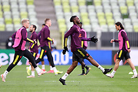 25th May 2021; Gdansk, Poland; Manchester United training at the Stadion Energa Gdańsk prior to their Europa League final versus Villarreal on May 26th;  AARON WAN-BISSAKA