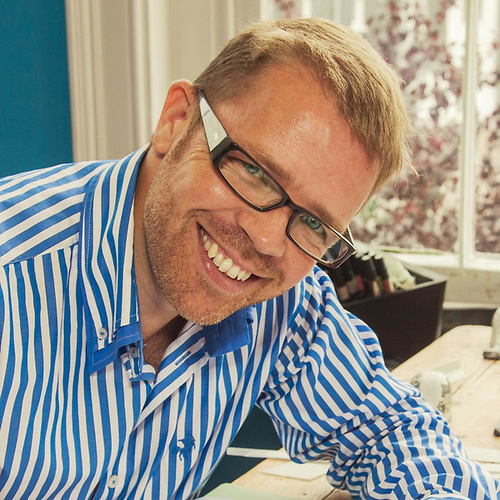 He's used to dealing with big numbers – Rob Doyle in his Kinsale design office.
