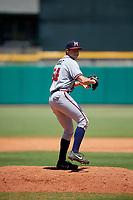 Mississippi Braves relief pitcher Jesse Biddle (54) delivers a pitch during a game against the Montgomery Biscuits on April 25, 2017 at Montgomery Riverwalk Stadium in Montgomery, Alabama.  Mississippi defeated Montgomery 3-2.  (Mike Janes/Four Seam Images)