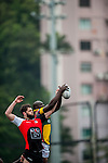 Allied World Forces Exiles vs GFI East Africans during the 2015 GFI HKFC Tens at the Hong Kong Football Club on 25 March 2015 in Hong Kong, China. Photo by Xaume Olleros / Power Sport Images