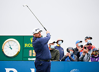 3rd July 2021; Mount Juliet Golf Club, Kilkenny, Ireland; Dubai Duty Free Irish Open Golf, Day Three; Shane Lowery of the Republic of Ireland tees off on the 1st hole