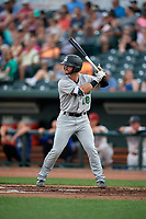Clinton LumberKings Evan Edwards (18) during a Midwest League game against the Great Lakes Loons on July 19, 2019 at Dow Diamond in Midland, Michigan.  Clinton defeated Great Lakes 3-2.  (Mike Janes/Four Seam Images)