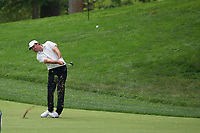 6th June 2021; Dublin, Ohio, USA;  Scottie Scheffler (USA) hits his approach shot on the 2nd fairway during the final round of the Memorial Tournament at Muirfield Village Golf Club in Dublin, Ohio