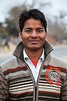 Bharatpur, Rajasthan, India.  Young Rajasthani Man.