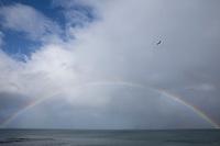 Regenbogen über den Westfjorden Islands, Westfjorde, Westfjord, rainbow, Island, Iceland