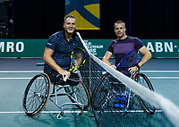 Rotterdam, The Netherlands, 12 Februari 2020, Wheelchair: Nicolas Peifer (FRA), Maikel Scheffers (NED).<br /> Photo: www.tennisimages.com